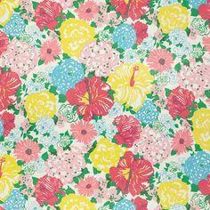 Lee Jofa Heritage Floral-Multi by Lilly Pulitzer 2011106-573 Decor Fabric