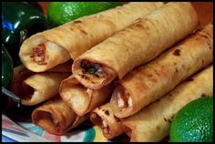 Recipe for Chicken Lime Taquitos - These are absolutely to die for!!! They are not your ordinary taquitos.