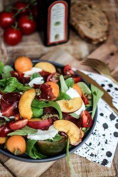 Salade nectarine et grison