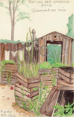 Monsieur Vilain a un joli jardin!