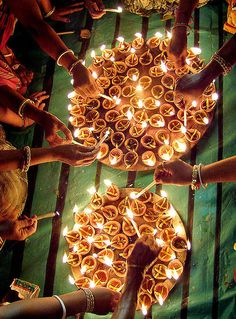 Diwali festival is so amazing and they create so amy different  shapes using little candles but lots of them and it stands out. i wouldnt improve this but if anything i would create different shapes .