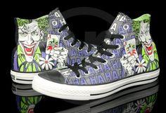 3817ec41bbf5 Converse Chuck Taylor All Star Hi DC Comics Heroes Pack Batman vs Joker  Hahaha! Joker