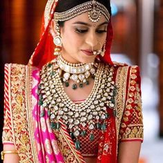 Sabyasachi Dresses Online on Happy Shappy. Browse great collection and images of beautiful and best Sabyasachi dress. Indian Bridal Lehenga, Indian Bridal Wear, Indian Wedding Jewelry, Bridal Jewellery, Indian Weddings, Indian Jewelry, Bridal Sarees, Fancy Jewellery, Jewellery Designs