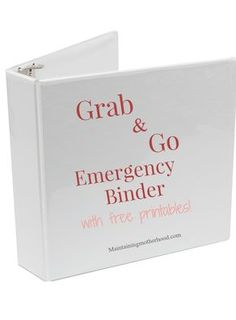 Grab and Go Emergency Binder Do you have all your important documents in one place in case of an emergency? Use this simple checklist to create your own Grab and Go Emergency Binder. Grab and Go Emergency Binder Emergency Preparedness Checklist, Family Emergency Binder, Emergency Go Bag, Emergency Preparation, Emergency Supplies, Disaster Preparedness, Survival Prepping, Survival Gear, Survival Quotes