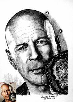 Bruce Willis.- by RobertoBizama.deviantart.com on @DeviantArt