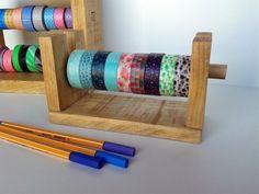 Organizador de washitapes para 9 rollos por Inkcolora en Etsy