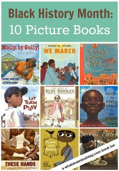 Picture Books for Black History Month. A few good picture book choices for Black History Month. Library Books, My Books, Class Library, African American History Month, Black History Month Activities, Black History Books, Preschool At Home, M Learning, Teaching Reading