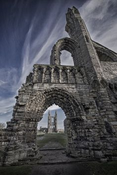 The ruins of St Andrew's Cathedral - St Andrews, Fife - Scotland. 1158.