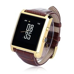 LEMFO Bluetooth Leather Smart Watch with Camera IPS Screen 360mAh Battery…