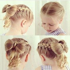 Such a cute hairstyle idea for a flower girl!