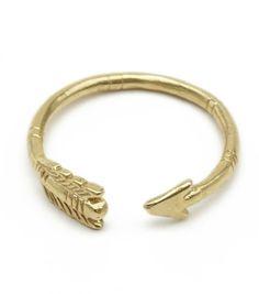 Adjustable Arrow Ring, brass