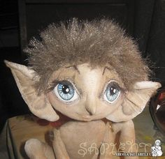 Master class on sculpting and painting face of elf cloth doll with great eyelashes