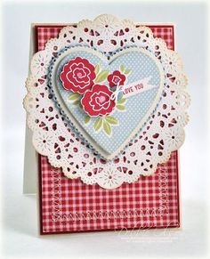 Love You Card by Debbie Olson for Papertrey Ink (December 2012)