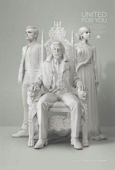 Snow, Peeta, and Johanna: united for #OnePanem… Check out the all new Official Presidential Portrait, from The Hunger Games: #Mockingjay Part 1!