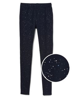 Sparkle stretch jersey leggings