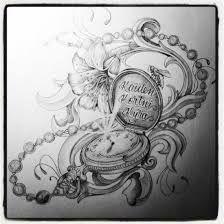 Bildergebnis für taschenuhr mit kette tattoo vorlage