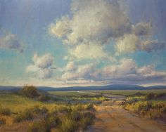 Desolate Road - by Kim Casebeer > There are many of Kim's paintings that I enjoy.  I'm especially attracted to those with a large sky.