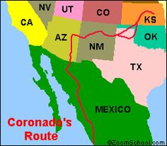 Francisco Vasquez de Coronado: Explorer and Conquistador. Coronado was a Spanish ruler, explorer and conquistador. He was the first European to explore North America's Southwest and the first to see the American bison or buffalo. Explorers Unit, Early Explorers, Conquistador, Hispanic American, 5th Grade Science, Educational Crafts, Treasure Maps, School Days, Family History