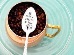 Cuss Word on Spoon Sarcastic Gift Foul Mouth Spoon Sarcastic Congratulations  Gift Congratufuckinglations Hand Stamped Vintage Spoon