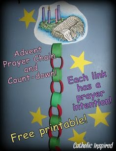 Catholic Inspired: Advent Prayer Chain and Coloring Activity
