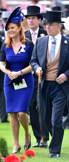 Prince Andrew, Duke of York with his ex-wife, Sarah, Duchess of York on Day 4 of Royal Ascot, June 19, 2015. Divorced for 19 years, they still live together.