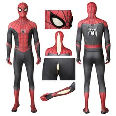Spider-Man Far From Home Spider-Man Cosplay Costume with Sole Comic Costume, Spiderman Costume, Superhero Cosplay, Cosplay Costumes, Halloween Costumes, Stealth Suit, Kids Dress Up, Kids Suits, Male Cosplay