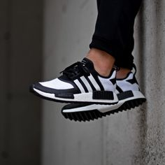 18413aafed06 adidas x White Mountaineering NMD Trail Black - Sneakers.fr