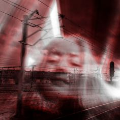 Train Dreaming - photo collage by Ulla Hauer, artphone. Art Exhibitions, Utility Pole, Collage, Train, Collages, Collage Art, Strollers, Colleges