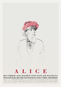 Tony Stella's poster for Woody Allen's Alice (1990).