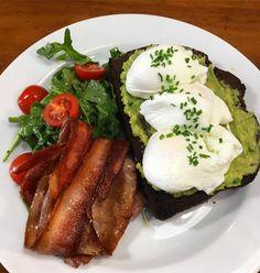 Bondi Beach Sydney, Poached Eggs, Smoked Salmon, Dips, Bacon, Protein, Menu, Skinny, Breakfast