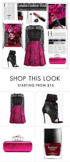 """""""Untitled #2899"""" by sugarsugar ❤ liked on Polyvore featuring Karen Millen, Dsquared2, Alexander McQueen, Nicki Minaj, Chanel, Givenchy and Christian Dior"""