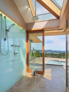 glass shower and sur