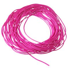 SATIN CORD NEON PINK 0.7MM from E-Beads!
