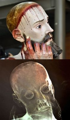A creepy X-ray image taken of a statue of Jesus in Mexico has revealed that the 300-year-old figure contains real human teeth - and they are all in perfect condition. The eight teeth were discovered...