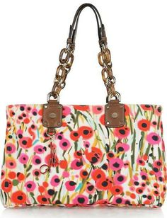 Milly-Poppy Print Canvas Tote
