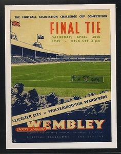 Wolverhampton Wanderers - FA CUP Final Programme Cover - Football cards - Year 1949 - 2 football cards
