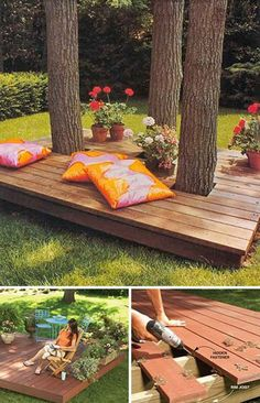 Top 19 Simple and Low-budget Ideas For Building a Floating Deck. - Feste Home Decor Top 19 Simple and Low-budget Ideas For Building a Floating Deck Building A Floating Deck, Building A Deck, Building Plans, Backyard Patio Designs, Backyard Landscaping, Backyard Ideas, Pergola Ideas, Cheap Pergola, Garden Ideas