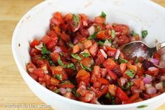 Bruchetta Recipe by Our Best Bites, save this for summer and use fresh juicy tomatoes!.