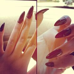 nail tips design Link Classy Nails, Simple Nails, Cute Nails, Pretty Nails, Pointed Nails, Stiletto Nails, Hair And Nails, My Nails, French Tip Nails