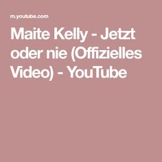 Maite Kelly - Jetzt oder nie (Offizielles Video) - YouTube Maite Kelly, Album, Try It Free, Live Tv, Music Songs, Videos, Youtube, Youtubers, Youtube Movies