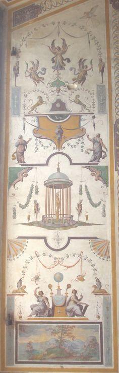 Panel at window jamb at Villa Farnesina by Raphael, Rome, 1506–1510 #grotesques #art #decor #antique #painting