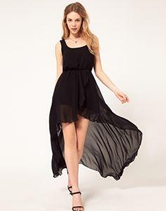 Enlarge Love Chiffon Wrap Hi Lo Dress, but i want the hi part to be longerr