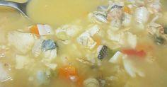 Fabulosa receta para Sopa de pescado. Sopita contra el frío! Riquísima y con…