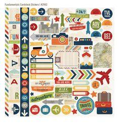 Urban Traveler Simple Stories Cardstock Stickers