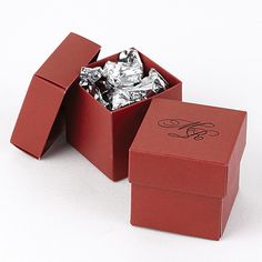 Fill these red favor boxes with chocolates for a Christmas party take home favor! http://partyblock.carlsoncraft.com/Wedding/Favors/ZB-ZBK1902CL-TwoPiece-Favor-Boxes--Claret.pro#imageSelect=105758