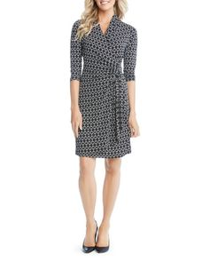 Faux wrap dresses are very flattering but are always tricky to find in long enough length to the top of my knees!