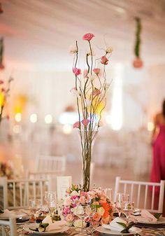 Decoração mesa casamento por Flor de Noiva Decorações e Ambientações de Eventos sitedanoiva.com.br