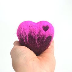 Felted Soap Pink Heart Blackberry Sage  by SoFino on Etsy, $18.00