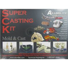 Alumilite Super Casting Kit  Never used this exact kit, but all of their products are WAY cool! Not just hobby craft stuff. This is serious art casting media