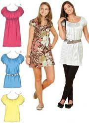 KS 3632 Misses Tops & Tunic Kwik Sew  Pattern